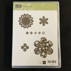 STAMPIN' UP Printed Petals Cling Rubber Stamp Set
